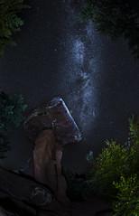 """Milky Way over """"Devil's Table"""" (Sijie Shen) Tags: europe germany rheinlandpfalz hinterweidenthal teufelstisch devils table landscape nightscape astrophotography sky milkyway stars rocks plants trees clear"""