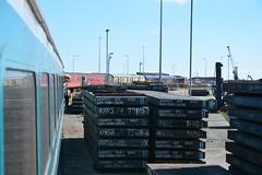 "GB Railfreight Class 66/7, 66755 (37190 ""Dalzell"") Tags: gbrf gbrailfreight europorte gm generalmotors shed bluebird class66 class667 66755 bls branchlinesociety ataleoftwoports railtour hendonno1siding portofsunderland"