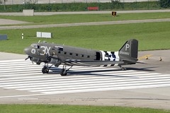 Douglas C-47 Dakota DC-3 ZRH Zurich Airport Switzerland 2016 (roli_b) Tags: douglas c47 dakota c47dakota dc3 n473dc uk england us usa airforce 2100882 zrh zurich airport switzerland august 2016 zrich flughafen schweiz suisse suiza svizzera airplane plane aircraft flugzeug flieger prop propeller maschine weltkrieg zweiter second world war worldwar avion aereo aviacao oldie oldtimer troop carrier 42100882 skytrain classic bird warbird 2nd