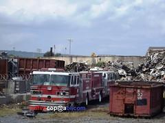 Scrap Metal at Scrap Yard (dfirecop) Tags: dfirecop fire truck abrams scrap yard 1600 north cameronstreet harrisburg pa