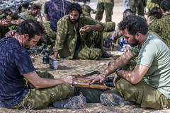Soldiers playing Backgammon (Berman Yaniv) Tags: backgammon game playing soldiers army military idf soldier