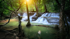 Waterfall (Patrick Foto ;)) Tags: abstract background beautiful beauty cool copy environment exotic fall foliage forest fresh freshness green growth healthy heaven jungle landscape leaf light nature outdoor paradise park pattern photo plant rock scenic sea space splash spring stream thailand travel tree tropical vacation vibrant view wallpaper water waterfall waterscape wet wild wonderful wood tambonmaekrabung changwatkanchanaburi th