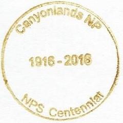 Canyonlands NP - NPS Centennial (colinLmiller) Tags: 2016 passport stamp rubberstamp nps blm nationalparkservice bureauoflandmanagement bonus green canyonlandsnationalpark moab utah
