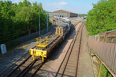 tfl rail class345 345001 which is bound for the new elizabeth crossrail line seen at asfordby test centre with 47714 and 08892 (I.Wright Photography over 2 million views thanks) Tags: tfl rail class345 345001 which is bound for new elizabeth crossrail line seen asfordby test centre with 47714 08892