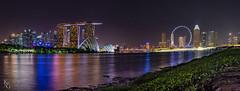 Panorama of Downtown Singapore (KSAG Photography) Tags: panorama singapore city urban landscape citysccape night lights longexposure travel asia southeastasia water