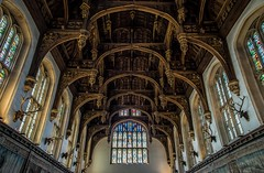 The Great Hall (James Waghorn) Tags: window hamptoncourt summer stainedglass sigma1750f28exdcoshsm d7100 topazclarity palace tourist historic royal greathall henryviii king hammerbeam ceiling england