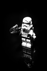 LEGO Stormtrooper (jtat_88) Tags: afol black blaster dark darkside disney empire evil figure fullframe fun ilce7 imperial jetpack lego legophotography minifig minifigure miniture mirrorlesscamera reflection set sony sonyfe2870mmf3556oss sonya7 starwars stormtrooper studiolighting tabletop toy war weapon bw blackandwhite