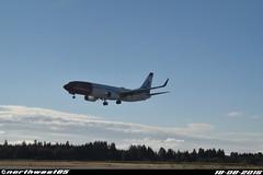 LN-NGL (northwest85) Tags: norwegian boeing 7378jpwl lnngl johan frederik frits thaulow landing runway 01r oslo gardermoen osl engm