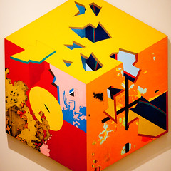 Don't Box Me In (Thomas Hawk) Tags: california cantorartscenter cubismii paloalto roberthudson southbay stanford stanforduniversity usa unitedstates unitedstatesofamerica painting