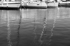 Reflections (petia.balabanova(tnx for +1.000.000 views)) Tags: biancoenero monocromo monochrome blackandwhite outdoor boats water sea reflections mirror malta portomaso travel nikond800 2470mm summer