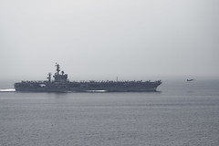 160824-N-EO381-509 (U.S. Naval Forces Central Command/U.S. Fifth Fleet) Tags: eo381 masscommunicationspecialist caseyjhopkins rearadmjessewilson commander carrierstrikegroup10 csg10 sarsurfaceairrescue exercise cvn69 arabiangulf
