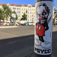 Berlin (PSYCO ZRCS 10/12) Tags: sticker stickers stickerart stickerporn stickerlife stickerculture street art slaps slap tagging vinyl bombing psyco worldwide berlin grilled pole graffiti tags