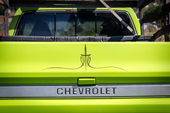 pinstripe (kevin.boyd) Tags: chevrolet bonanza pickup truck green pinstripe