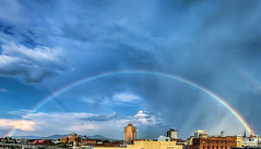 August Last Day Rainbow Roanoke (Terry Aldhizer) Tags: august rainbow roanoke wide large rain storm stormy sky city buildings clouds optic reflection terry aldhizer wwwterryaldhizercom