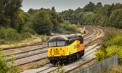 Colas Railfreight Class 56/0 no 56087 passes Clay Cross on 27-09-2016 with a light engine move from Stapleford to Doncaster. (kevaruka) Tags: clay cross derbyshire class 56 20 59 colas rail freight direct services drs gbrf locomotive sigh lightroom autumn 2016 england english electric colour colours september yellow orange blue trains railfreight railway transport outdoor countryside flickr front page thephotographyblog ilobsterit heritage historic history canon eos 5d mk3 70200 f28 is mk2 5d3 5diii telephoto tupton boobs milf sexy wife 56087 20308 20312 railroad vehicle train