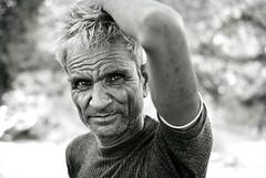 Herdsman, Rajasthan (MrCrisp) Tags: india indian pushkar rajasthan portrait portraiture travel traditional blackandwhite blackwhite monochrome eyes face dof nikon nikond3000 asia