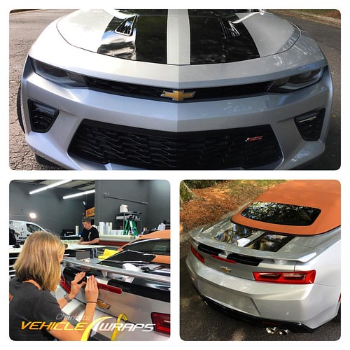 Flawless custom 3M stripes on new Camaro SS.  #charlottevehiclewraps #ordinaryisnotanoption