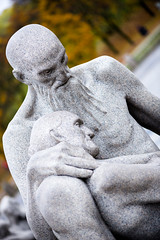 The Passing of Age (ergw photography) Tags: age aged day daytime daylight disturbing emotion emotional expression expressive exterior human man norway odd oslo outdoors outside scandinavia sculpture statue stilllife vigeland woman autumn autumnal