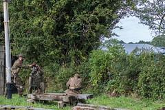 DSC_7364.jpg (john_spreadbury) Tags: ww2 mortar gi homeguard german blacknwhite johnspreadbury reenactment group rifle machinegun stengun cricklade swindon railway troops army english americans uniforms smoke wartime soldiers british
