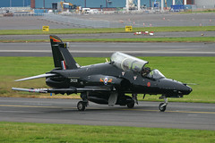 ZK028 Hawk T-2 4 Sqn at Prestwick (Ayrshire Aviation Images) Tags: bae hawk jet prestwickairport airplane royalairforce aircraft militaryjet fastjet