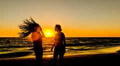 sunset and backlight (DROSAN DEM) Tags: sunset backligth contraluz siluetas sub sol cloud nubes mar