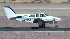 Beech 95-A55 Baron N169SP (ChrisK48) Tags: 1962 55 a55 aircraft airplane baron beech95a55 beechcraft dvt kdvt n169sp phoenixaz phoenixdeervalleyairport cntc353