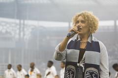 Conservatory Student Laurel Weir Performs Nat'l Anthem Sept. 9, 2016 (UMKC-Conservatory) Tags: umkcconservatory umkc universityconservatory university unitedstatesofamerica vocalists kc sporting soccer national anthem star spangled banner