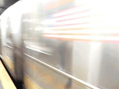 IRT Seventh Ave line - (145th Street) Animated (TheMachineStops) Tags: nyc newyorkcity subway indoor train rail nycta mta motion animated irt platform gif uws harlem blur