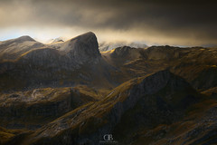 Warm Foothills (DBPhotographe) Tags: moutain fall autumn warm sunrise storm gold pyrnes ossau valle valley refuge snow shower cpl lee filter canon 6d trek randonne bivouac