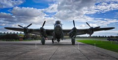 RAF East Kirkby Lincolnshire 18th October 2016 (loose_grip_99) Tags: eastkirkby raf lincolnshire bomber base airfield wwii avro lancaster heavy 4engined merlin taxying england uk plane military october 2016 lincolnshireaviationheritagecentre