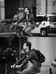 [La Mia Citt][Pedala] (Urca) Tags: milano italia 2016 bicicletta pedalare ciclista ritrattostradale portrait dittico bike bicycle nikondigitale mir biancoenero blackandwhite bn bw nn 89154