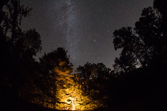 Fowlers Hollow Campsite (Radical Retinoscopy) Tags: fowlershollow statepark stateparks pa pennsylvania pennsylvaniastateparks darksky canont6s canon815mm fisheye astronomy astrophotography nightsky nightphotography camp campfire
