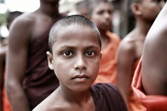 Here I Am (cisco image ) Tags: srilanka kegalla portrait ritratto boy ragazzo orange monk eyes occhi soul soulsound presence presenze canon6d eos sigma 35mm art glance sguardo look street