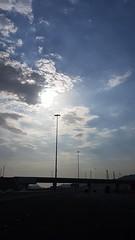 Afternoon Clouds (pixelasso) Tags: clouds ksa sauida saudia jeddah travel bridge blue sky bluesky contrast flare sun afternoon sunlight daytime