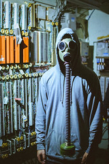 N/A (94collect) Tags: gasmask mask horror suspense thrill thriller halloween scary spooky abstract surreal jail cell dark grunge prison soldier dead death blackandwhite noir providence rhodeisland nikon cold night nightmare park nature moments memories portrait portraits subject