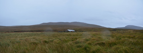 Sandwood Panorama - Strathchailleach Bothy as the weather comes in