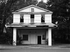 20161017A013 (Terry Christian Photo) Tags: mamiya 645pro llford hp5 kodak hc110 abandoned ruin ruins whorehouse brothel hotel baldknob arkansas