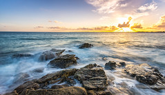 Sainte Marine sunset (Pierre Coroller) Tags: sainte marine benodet finistere bretagne water ocean sea waves long exposure rocks sunset sun clouds nuages ciel soleil couch de sony a7r pose longue seascape paysage marin mer atlantique
