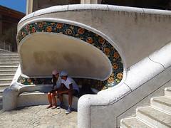 Park Gell (IV) - Barcelona (jackfre 2) Tags: catalunya spain barcelona parkgell park mosaics antonigaudi gaudi