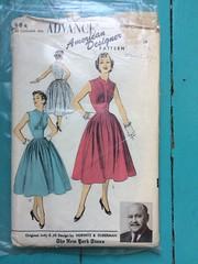Advance 6781 (kittee) Tags: kittee advance advance6781 6781 dress vintagesewing vintagepattern unmarked bust32 waist27 size12 1950s nodate tucks sleeveless fittedbodice pocket pleats