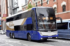 Translink Ulsterbus 2035, IXZ1835. (EYBusman) Tags: translink ulsterbus gold link goldlink municipal bus coach belfast city centre europa brand new ceatano invictus scania triaxle double deck derry londonderry k410ud ixz1835 eybusman