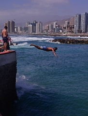 Cowabunga! (Ctuna8162) Tags: chile beach playa antofagasta diver diving ocean buildings city