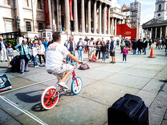 Cycle Challenger (garryknight) Tags: lightroom london lumia930 nokia ononephoto10 trafalgarsquare bicycle bike cellphone challenge cycle mobile phone test