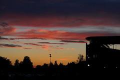 Doom and Gloom at Autzen (dsgetch) Tags: sunset duckfootball oregon eugene autzenstadium universityoforegon