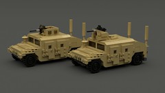 M1151 HMMWV (TheRookieBuilder) Tags: m1151 hmmwv lighttransport military lego legodigitaldesigner mecabricks render blender ldd helicopter