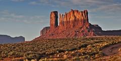 On the road (1) (Starkrusher) Tags: navajo navajonation arizona fourcorners rockformations spectcularscenery highway160 utah redrocks desert sunrise