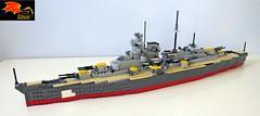 Battleship Bismarck - 87 (Enon) Tags: battleship bismarck lego ww2 second world war hms hood prince wales swordfish torpedo rudder rudders