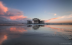 Low tide (Sue MacCallum-Stewart) Tags: westpier brighton lowtide seascape coast sunset sea sussex reflection dand
