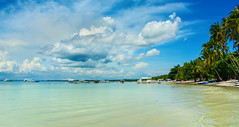 Bohol (free3yourmind) Tags: bohol beach palms philippines boats clouds cloudy shallow water sea blue green holidays vacations asia