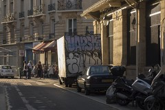 . (Le Cercle Rouge) Tags: paris france marchdaligre batsille 75012 graffitis tags truck painters streetart